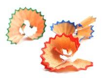 Colored pencil shaving Stock Photo