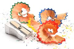 Colored pencil shaving Royalty Free Stock Images