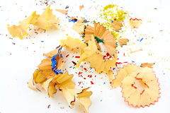 Colored pencil shavings Stock Photography