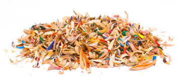 Colored Pencil Shavings. Pile of colored pencil shavings Royalty Free Stock Image