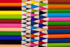 Colored pencil tip to each other Stock Image