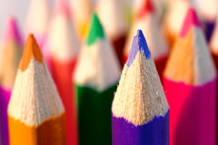 Colored Pencil Tips Royalty Free Stock Images