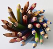 Colored pencil tips Stock Photography
