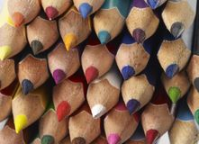 Colored pencil tips Royalty Free Stock Photos