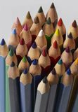 Colored pencil tips Stock Image