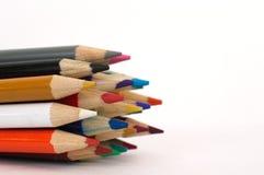 Colored Pencil Tips Stock Photos