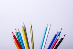 Colored pencil. On white background Royalty Free Stock Images