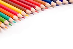 Colored pencil. On white background Royalty Free Stock Image