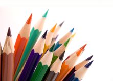 Colored pencil. On white background Stock Images