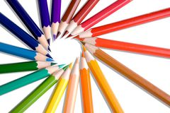 Colored pencil. On white background Stock Photos