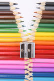 Colored pencil zipper Stock Images