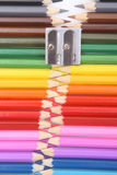 Colored pencil zipper Royalty Free Stock Image