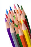 Colored pencils. Isolated on white, studio shot stock photos
