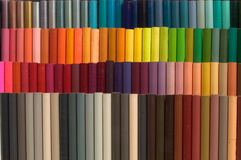 Colored pencils. Full range of colors . Pencils for photo retouching Stock Photography