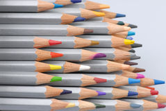 Colored pencils. A pile of colored pencils Stock Photography