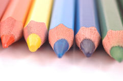 Colored Pencils. Sharpened in a row Royalty Free Stock Photography