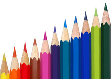 Colored pencils. Color pencils on white background Stock Photography