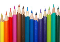 Colored pencils. Color pencils on white background Stock Images