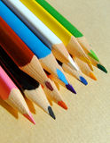 Colored pencils. Close-up of some colored pencils Royalty Free Stock Photos