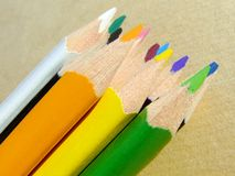 Colored pencils. Close-up of some colored pencils Stock Images