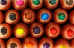 Colored pencils. Background close up royalty free stock photo