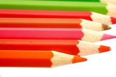 Colored pencils. On the white background Stock Photos