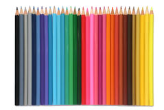Colored pencils. Isolated on a white background Royalty Free Stock Photos