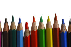 Colored pencils. On the white background Stock Photo