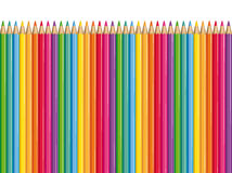Colored pencils. Colored pencils row illustration background Royalty Free Stock Photos