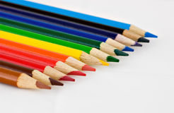 Colored pencils. Group of colored school pencils Stock Photo
