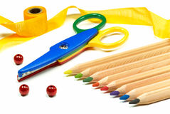 Free Colored Pencils Royalty Free Stock Photos - 15556058