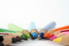 Colored pencils. Arc of coloured pencils Stock Photos