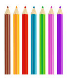 Colored pencils. On white background vector illustration