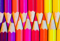 Colored pencils. In a row Royalty Free Stock Photos