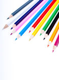 Colored pencils. On a white background Royalty Free Stock Photo