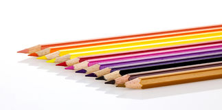 Colored pencils. Isolated on a white background Royalty Free Stock Images