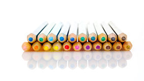 Colored pencils. Isolated on a white background Stock Photos