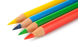 Isolated colored pencils Stock Photos