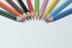 Colored pencils. On white background Royalty Free Stock Image
