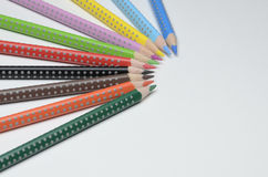 Colored pencils. On white background Stock Images