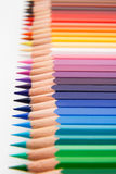 Colored pencils. Assortment of colored pencils with small depth of field Royalty Free Stock Photography