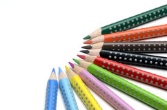 Colored pencils. On white background Stock Photos