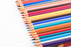 Colored pencils. An assortment of colored pencils Stock Photos