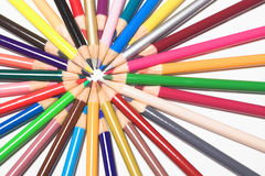 Colored pencils. An assortment of colored pencils Royalty Free Stock Images
