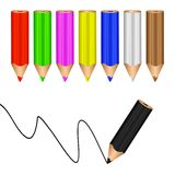 Colored pencils. Stock Image