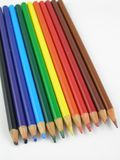 Colored pencils. Set of colored pencils Royalty Free Stock Images
