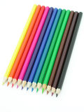 Colored Pencils. Isolated Stock Image