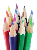 Colored Pencils. Isolated Royalty Free Stock Photos