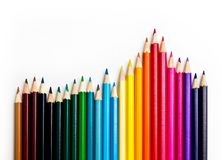 Colored pencils. Color pencils isolated on white background Royalty Free Stock Image