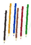 Colored pencils. On white background Royalty Free Stock Photos